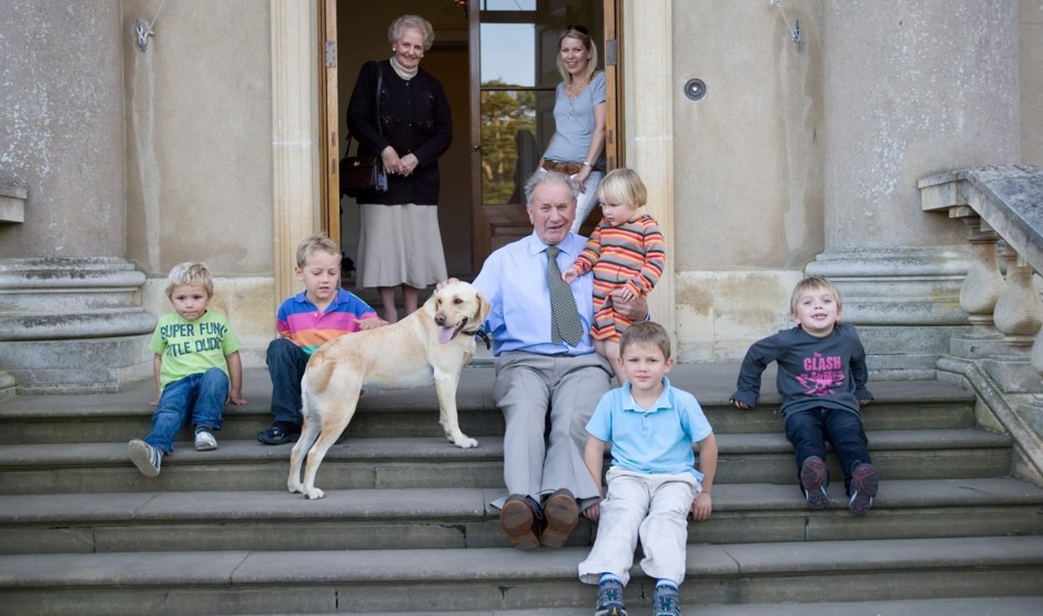 Family with dog at dog-friendly Suffolk hotel The Ickworth