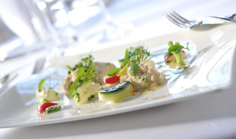 Dish from the Ickworth Hotel restaurant menu