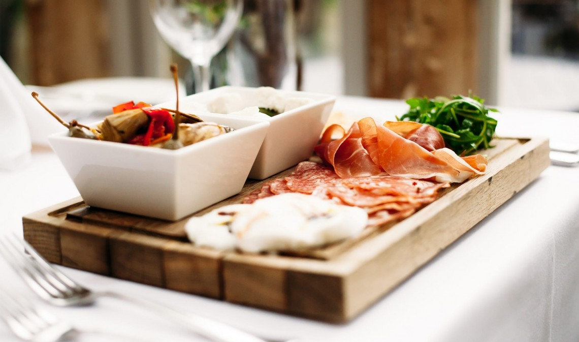 Antipasto at The Ickworth luxury family hotel in Suffolk