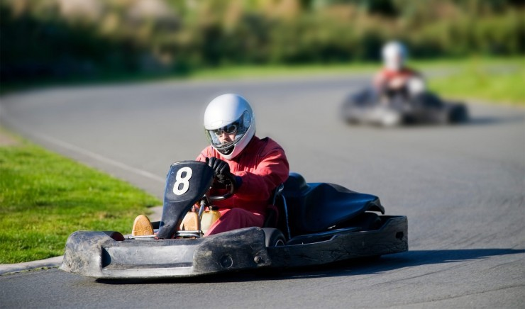 Go-karting at Red Lodge in Suffolk