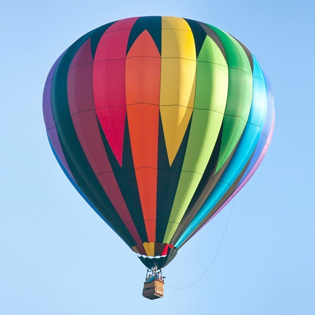 A hot air balloon in the sky in Suffolk