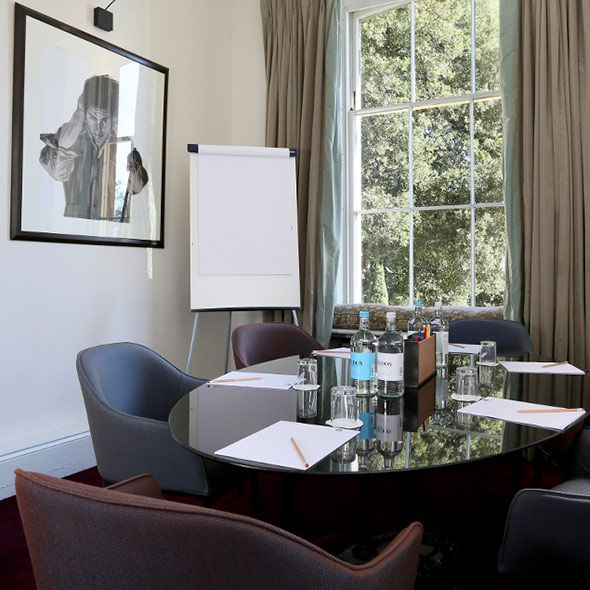 A business meeting room at The Ickworth hotel.
