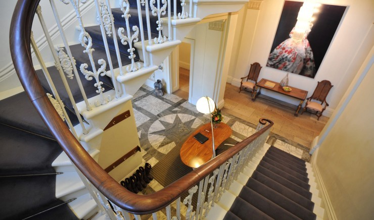 Staircase in the historic Ickworth House in Bury St Edmunds
