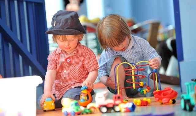 Children playing in the crèche at the Ickworth luxury family hotel in Suffolk