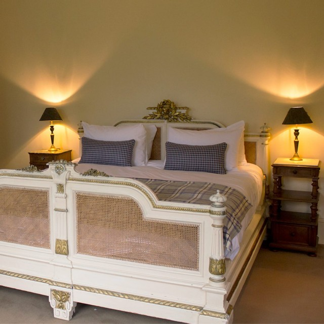 Double bedroom at The Lodge at Ickworth