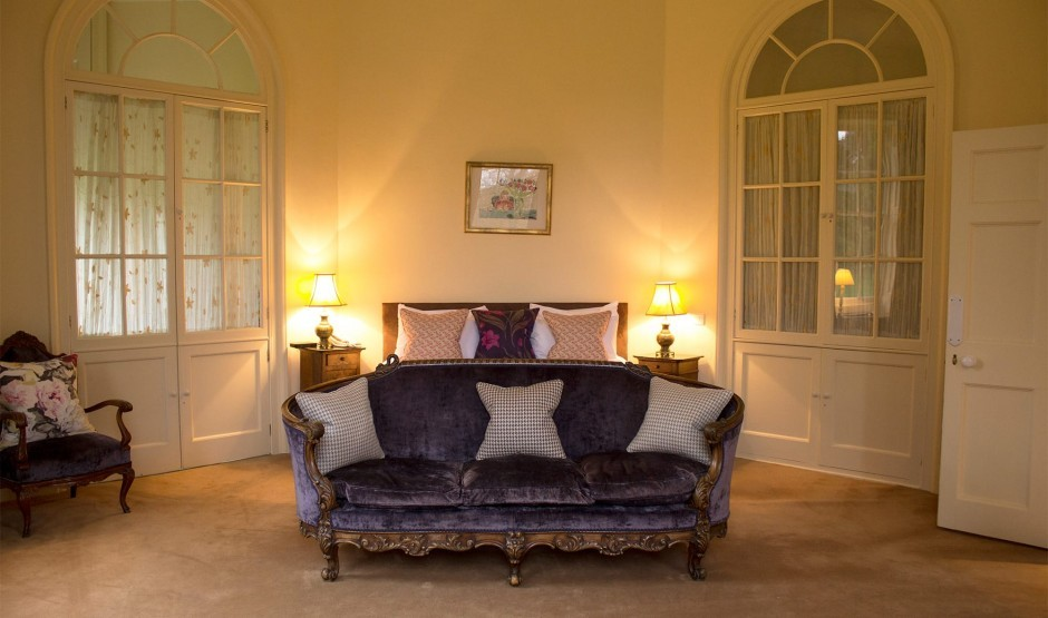 Family double bedroom at The Lodge at Ickworth