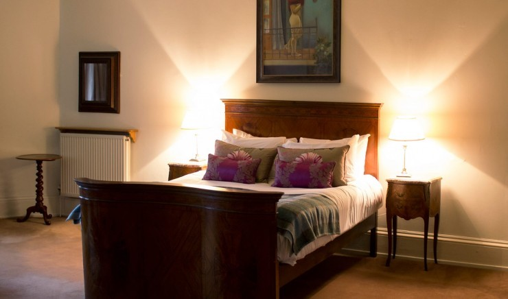 Bedroom at exclusive use venue The Lodge on the Ickworth estate