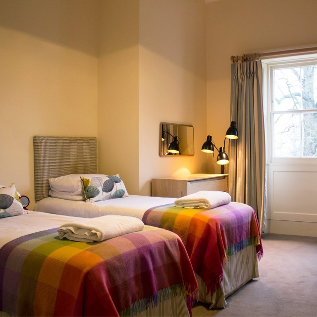 Twin bedroom in Suffolk hotel The Ickworth