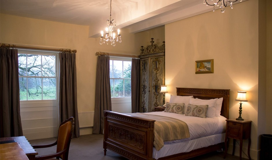 Family bedroom in the Lodge at Ickworth