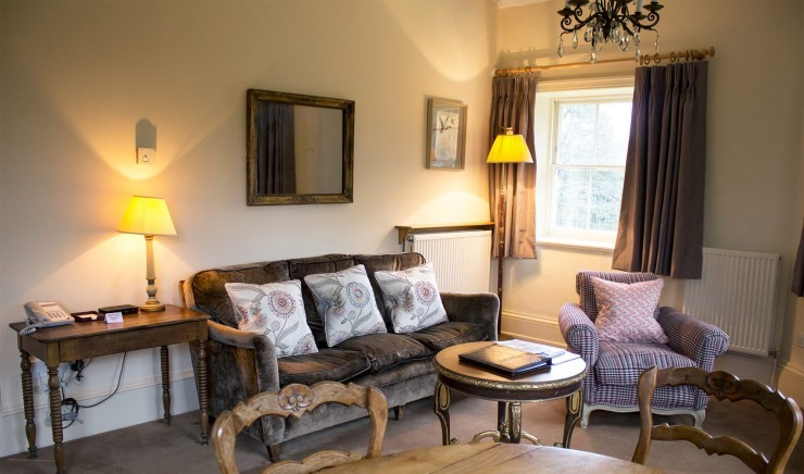 Living room in The Lodge at Ickworth in Suffolk