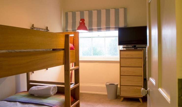 Children's bunk beds at The Lodge at Ickworth