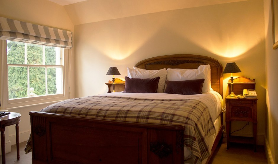 Bedroom in the Ickworth Lodge exclusive use venue in Suffolk
